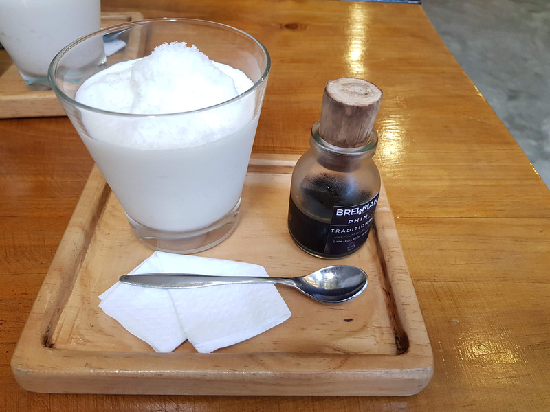 Deconstructed coconut coffee