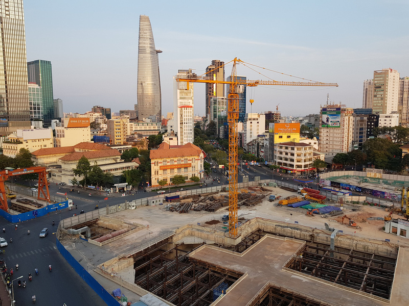 Ben Thanh metro construction