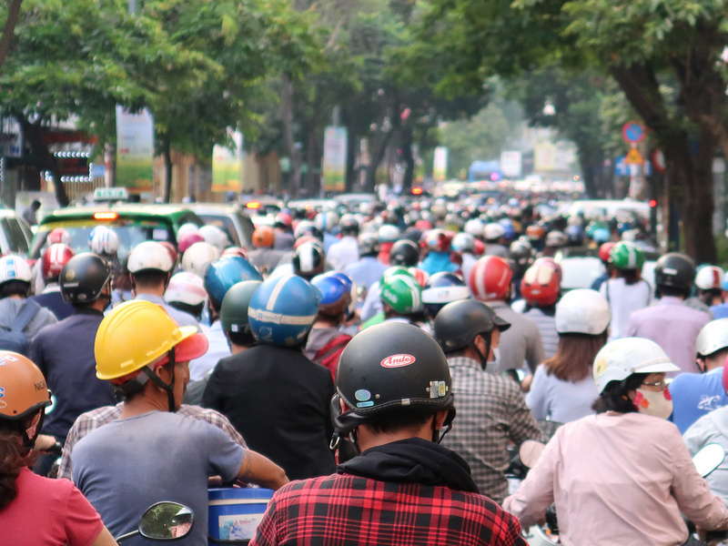 Ho Chi Minh City bike traffic