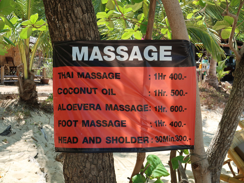 Massage prices