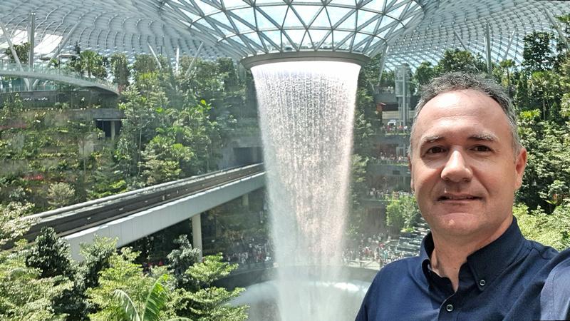 Selfie at Jewel Changi