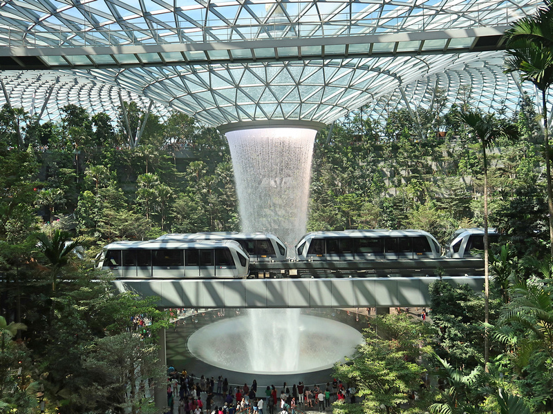 Skytrains in the Jewel