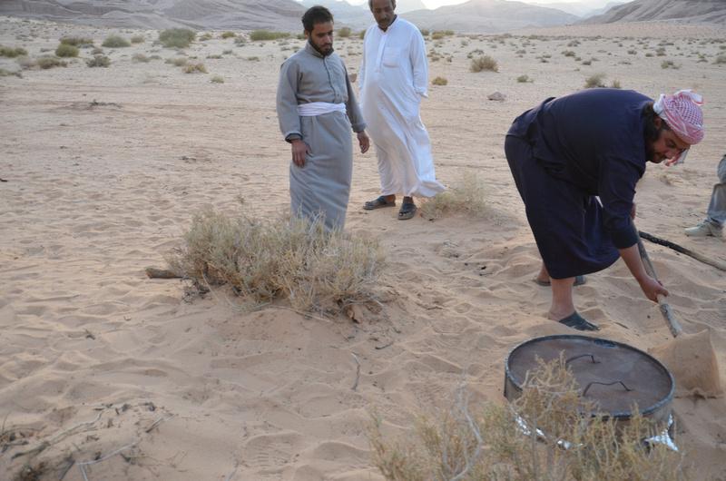 Wadi Rum desert oven
