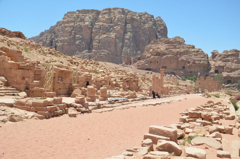 colonnaded Street ruin, Petra - Jordan