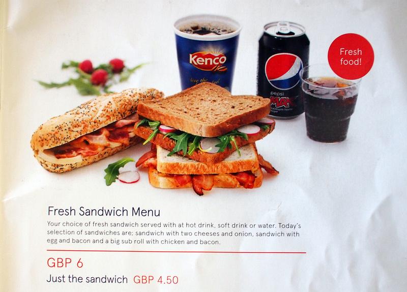 Fresh Sandwich Menu