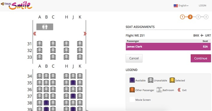Online seat selection