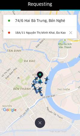 Uber requesting
