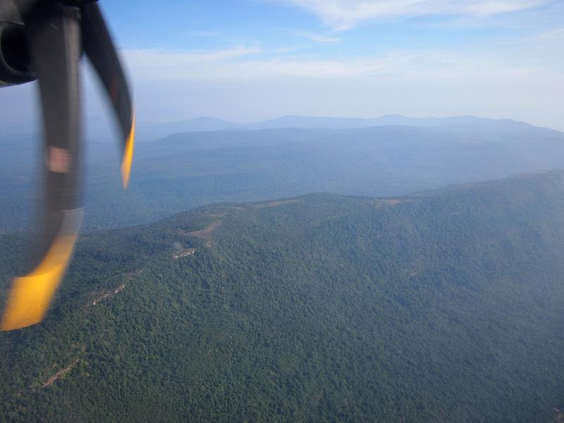 Somewhere over Laos