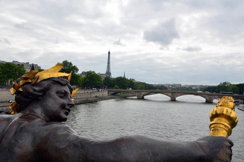 Eiffel Tower from Pont Alexandre III, Paris - France