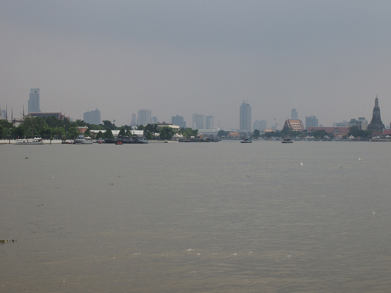 Chao Phraya River with no boats