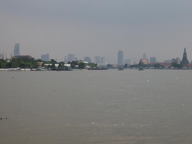 Chao Phraya River with no boats