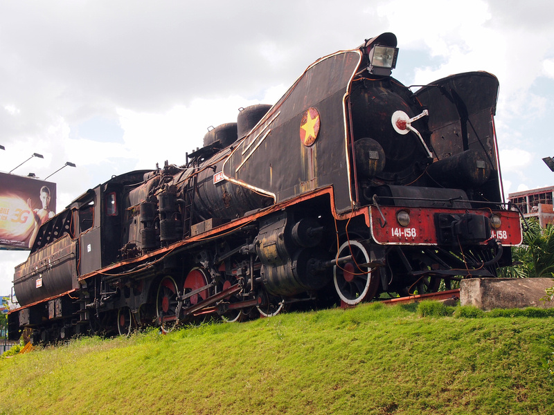 Old train at Ga Sai Gon
