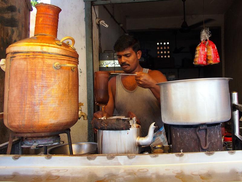 Making Tea - Mamallapuram