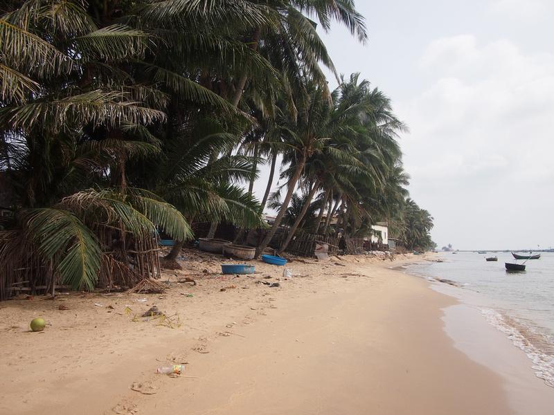Fishing village beach