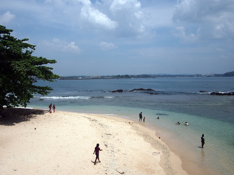 Galle local beach