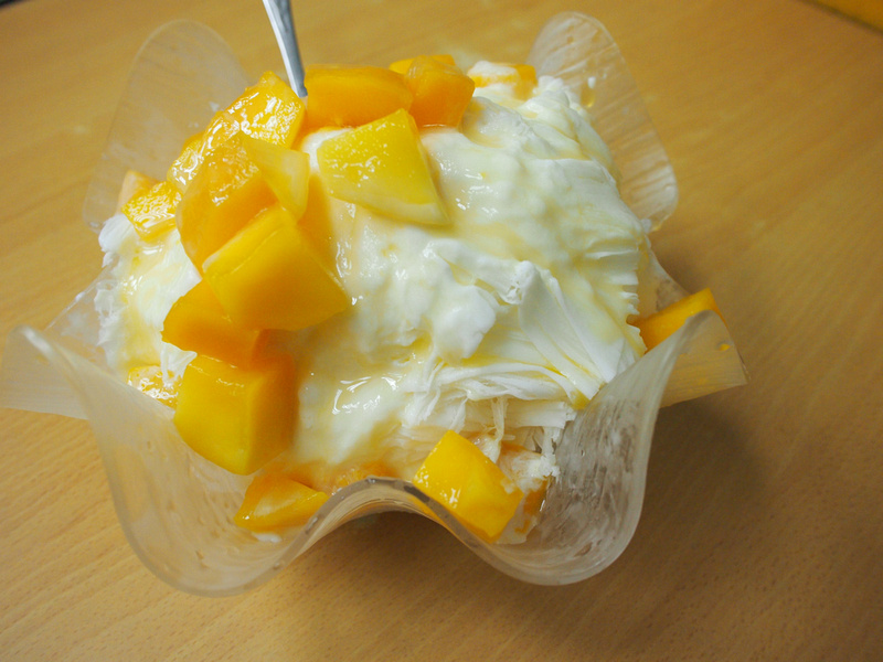 Mango and shaved ice