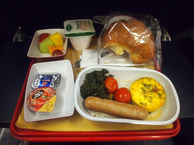 South African Airways breakfast