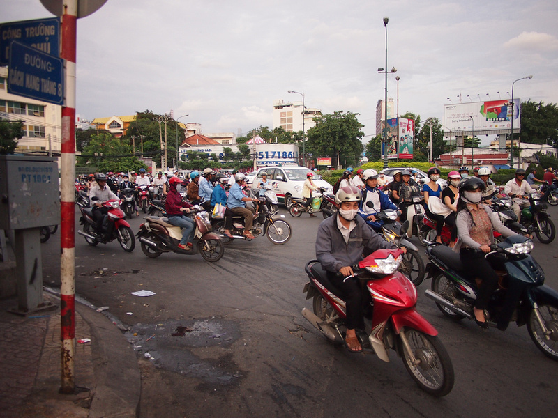 Roundabout at CMT8 - Ho Chi Minh City
