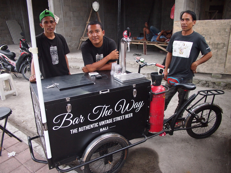 Bar the way - beer cart