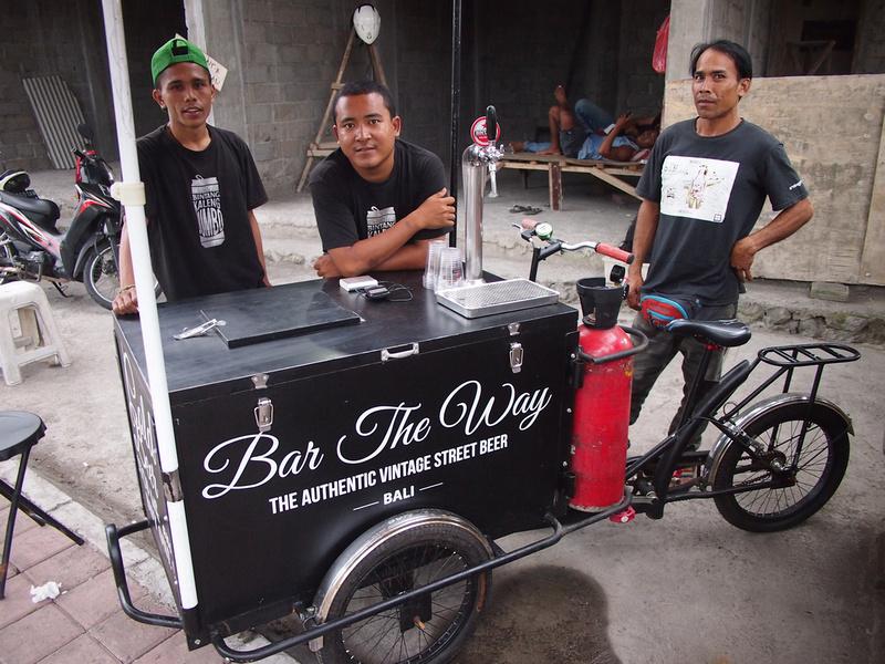 Bar the way - beer cart