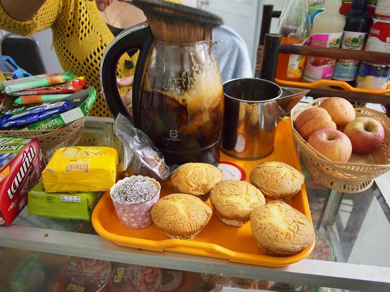 Making Laos coffee