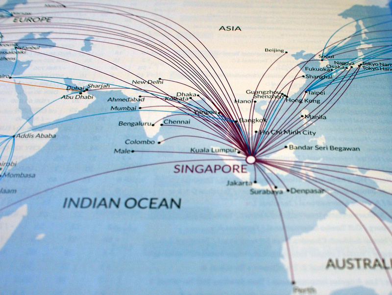 Singapore Airlines Asia routes