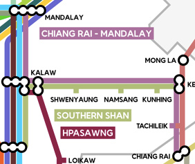 Chiang Rai to Mandalay