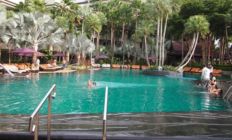 Shangri-La Hotel swimmers