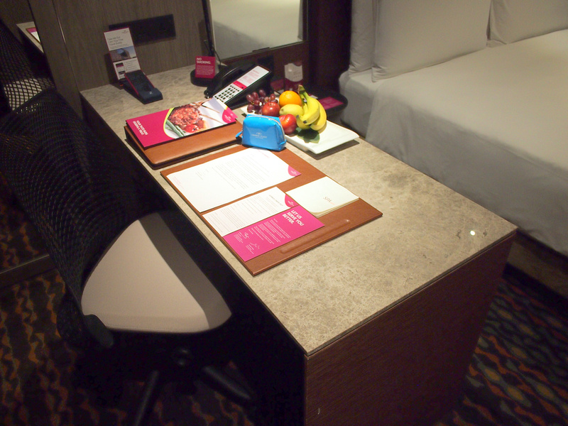 Crowne Plaza Changi desk