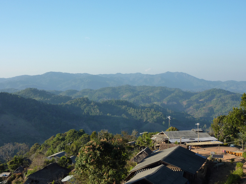 Akha mountain village