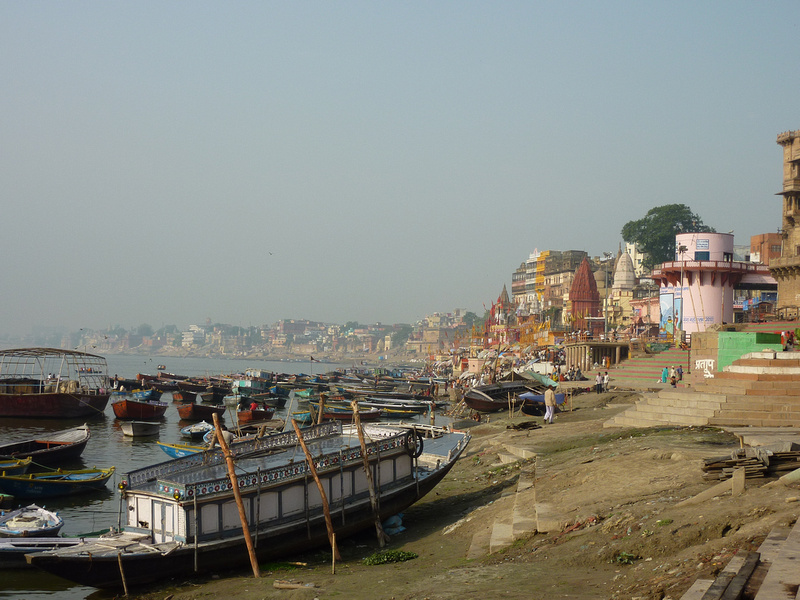 Boats on the Ganges, Varanasi - India