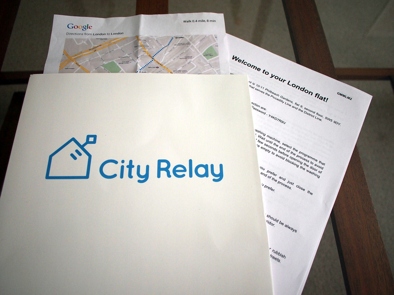 City Relay welcome pack