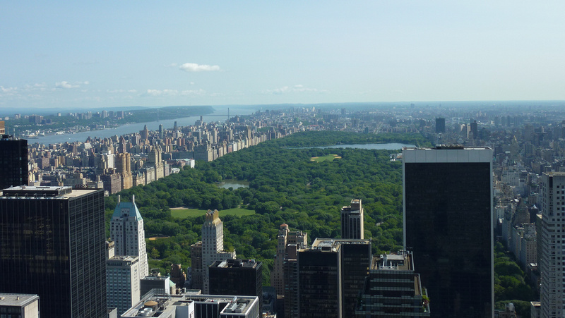 Central Park view from the Top Of The Rock, New York