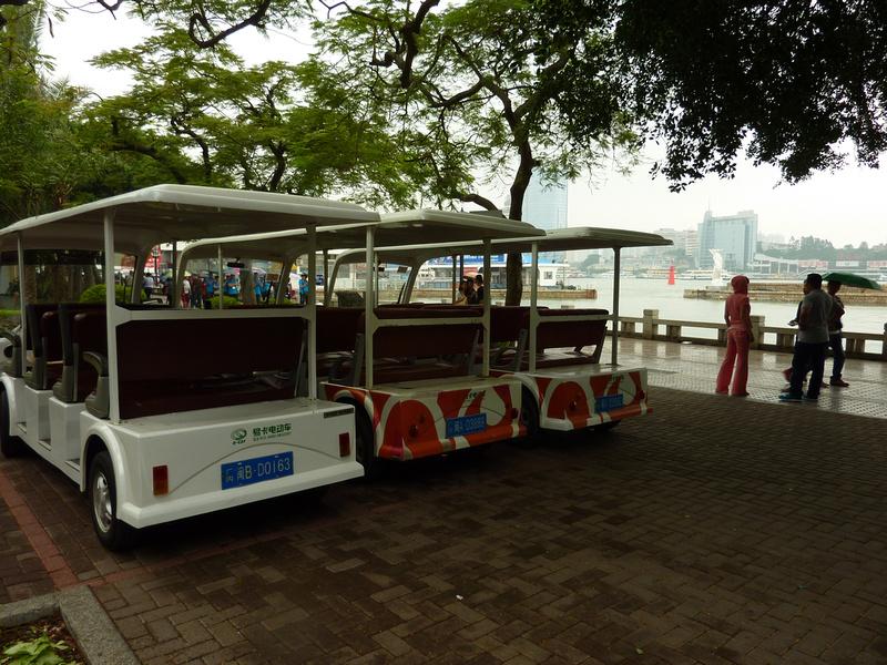 Electric trolleys on Gulangyu Island