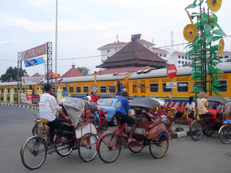 Railway crossing at Yogyakarta
