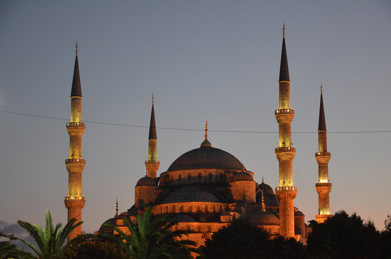 Blue Mosque at dusk, Istanbul - Turkey
