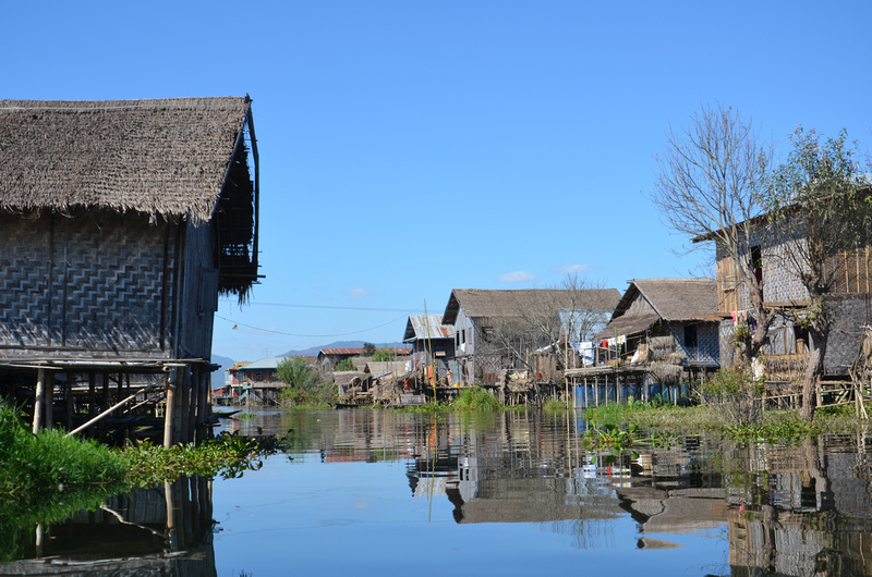 Typical water village