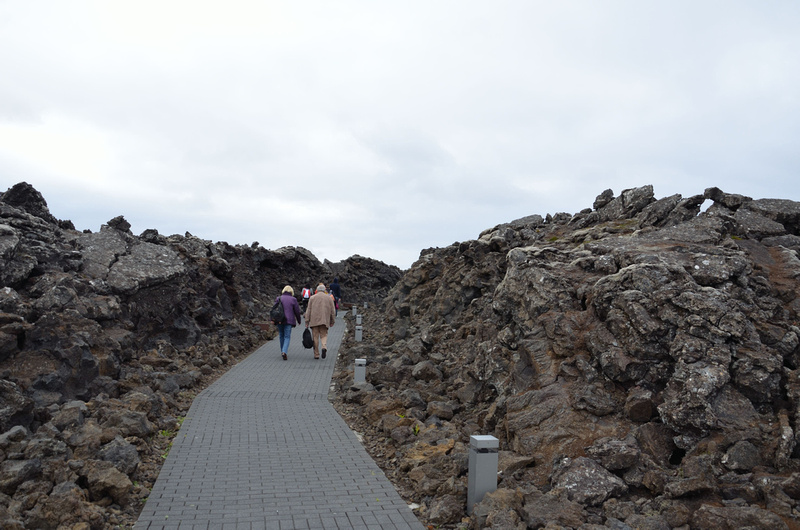 Blue Lagoon entrance through lava field