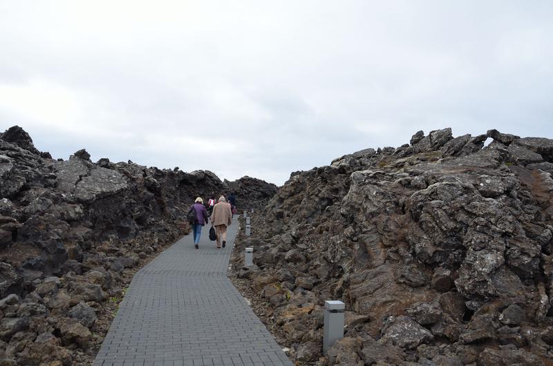 Blue Lagoon entrance through lava field