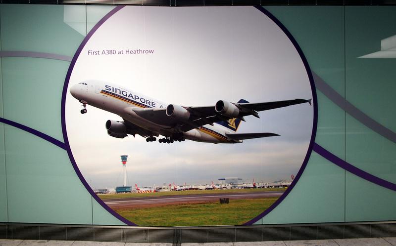 First A380 at Heathrow