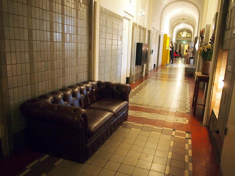 Tiled Hallway