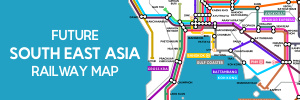Southeast Asia subway-style railway map