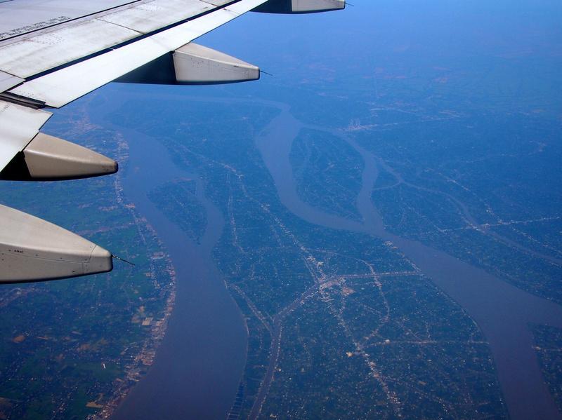 Flying over the Mekong Delta