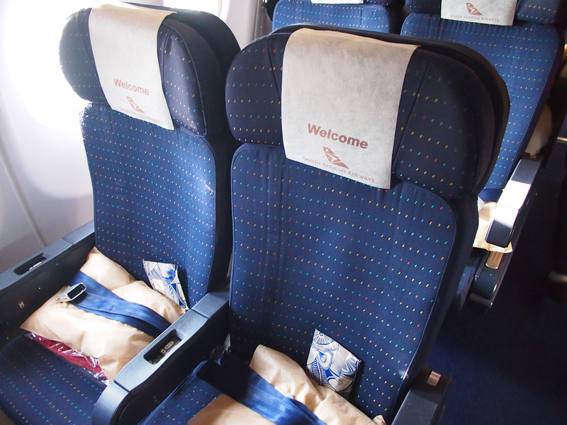 South African Airways A340 economy seats