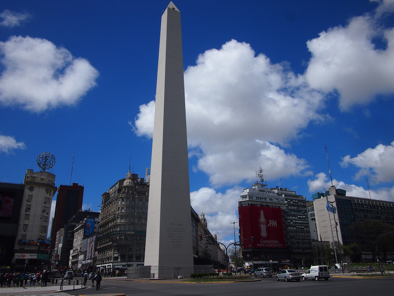 Obelisk at Avenida 9 De Julio