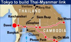 Thai-Japan railway to link Burma & Cambodia