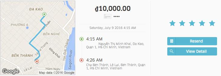 Uber HCMC Map