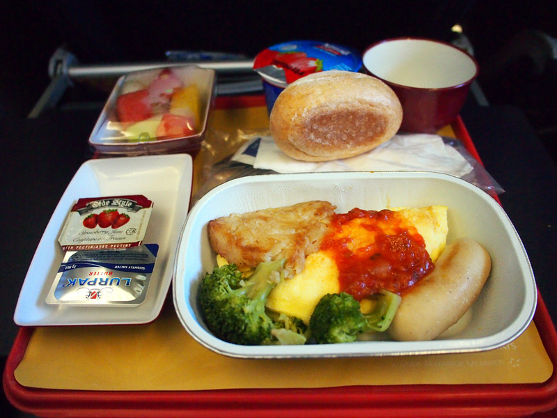 South African Airways breakfast