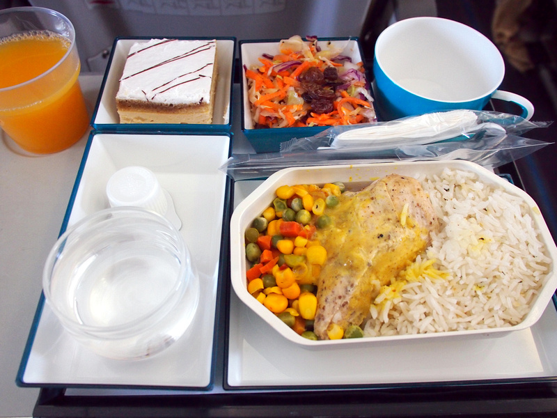 SriLankan Airlines lunch