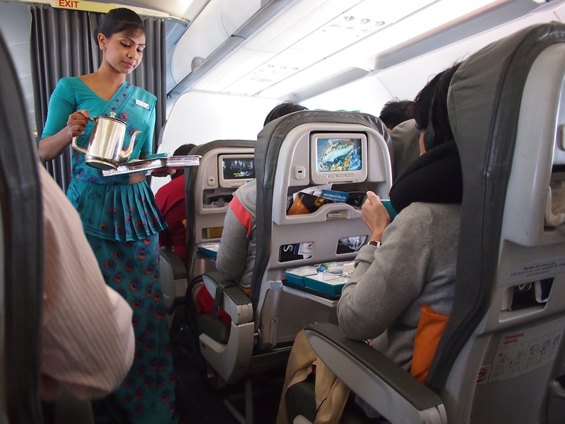 SriLankan Airlines tea and coffee service